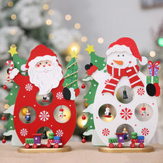 Snowman Santa Christmas Wooden Christmas Décor Diy Craft