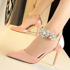 Women's PU Stiletto Heel Pumps With Crystal Buckle shoes