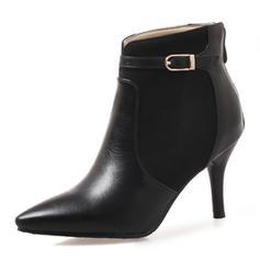 Femmes Similicuir Talon stiletto Bout fermé Bottes Bottines avec Boucle Zip chaussures