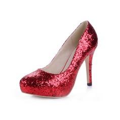 Femmes Pailletes scintillantes Talon stiletto Escarpins Plateforme Bout fermé chaussures