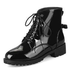 Femmes Similicuir Talon bas Bottes Bottes mi-mollets avec Dentelle chaussures