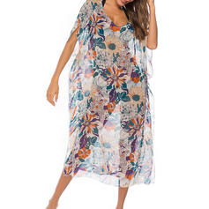 Floral V-Neck Sexy Fashionable Classic Attractive Cover-ups Swimsuits