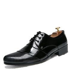 Lace-up Dress Shoes Patent Leather Men's Men's Oxfords