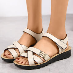 Women's PU Flat Heel With Hollow-out shoes