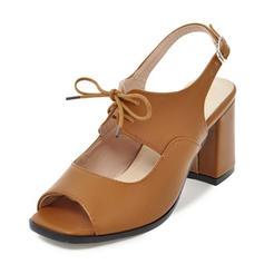 Femmes Similicuir Talon bottier Sandales Escarpins À bout ouvert Escarpins avec Boucle Dentelle chaussures