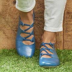 De mujer PU Planos Encaje con Agujereado zapatos