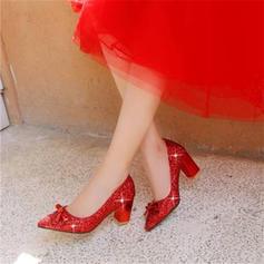 Femmes Pailletes scintillantes Talon bottier Plateforme avec Paillette chaussures
