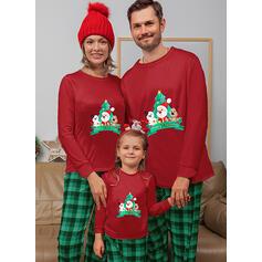 サンタ トナカイ チェック マッチングファミリー クリスマスパジャマ