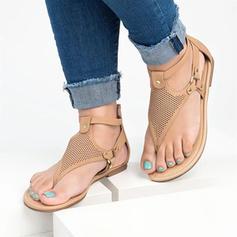 Women's PU Low Heel Sandals Peep Toe With Zipper shoes