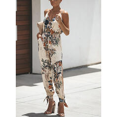 Print Boho Casual Vacation Jumpsuits
