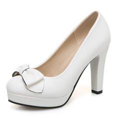 Women's Leatherette Stiletto Heel Pumps With Bowknot shoes