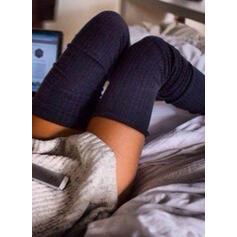 Στερεό χρώμα Αναπνεύσιμος/Ανετος/Γυναίκες/Κάλτσες με γόνατο Κάλτσες/Κάλτσες