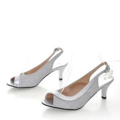 Women's PU Stiletto Heel Sandals Pumps With Buckle shoes