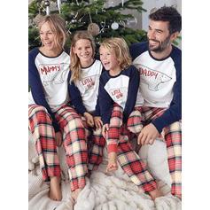 Oso Tela Escocesa Dibujos animados Familia a juego Pijamas De Navidad Pijama