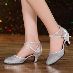 Femmes Salle de bal Swing Talons Sandales Similicuir Pailletes scintillantes Swing