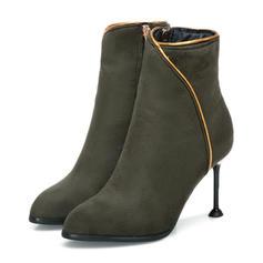 Femmes Similicuir Talon stiletto Escarpins Bottes Bottines avec Zip chaussures