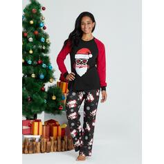 Babbo Lettera Stampa Famiglia Partita Di Natale Pajamas