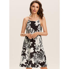Print/Floral Sleeveless Sheath Above Knee Casual/Boho/Vacation Dresses