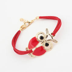 Cute Owl Alloy Resin Women's Bracelets