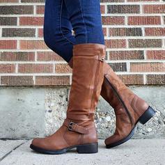 Жіночі ПУ Низький каблук Чоботи з Пряжка взуття