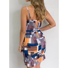 Print Sleeveless Sheath Above Knee Sexy/Casual/Vacation Dresses