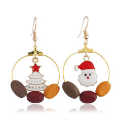 Christmas Tree Father Christmas Alloy Earrings Christmas Jewelry