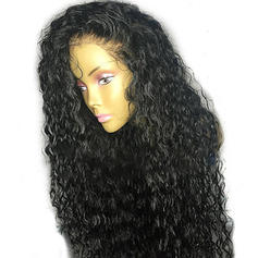 5A Virgin/remy Loose Wavy Human Hair Full Lace Cap Wigs