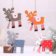 Merry Christmas Reindeer Hanging Wooden Christmas Pendant Christmas Décor