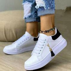 Donna PU Senza tacco Ballerine Sneakers con Allacciato Nappa scarpe