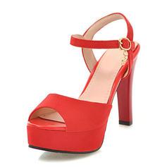 Dla kobiet Zamsz Skóra ekologiczna Obcas Stiletto Sandały Czólenka Platforma Otwarty Nosek Buta obuwie