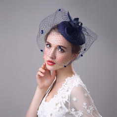 520d4b5257b ... Ladies  Beautiful Elegant Eye-catching Cambric With Tulle Fascinators  ...