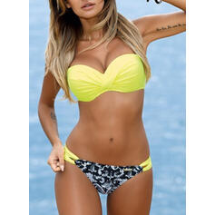 Print Push Up Strap Sexy Bikinis Swimsuits