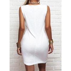 Impresión Sin mangas Ajustado Sobre la Rodilla Casual Vestidos