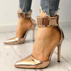 De mujer PU Tacón stilettos Salón con Cremallera zapatos