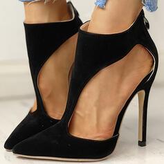 Vrouwen Kunstleer Stiletto Heel Pumps met Vastrijgen schoenen