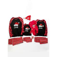 Plaid Letter Print Family Matching Christmas Pajamas