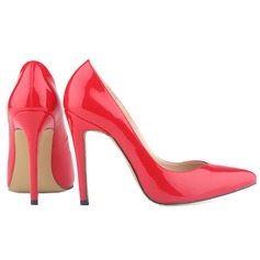 Vrouwen Patent Leather Stiletto Heel Pumps Closed Toe schoenen