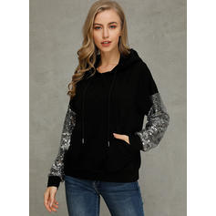 Polyester Patchwork Hoodie