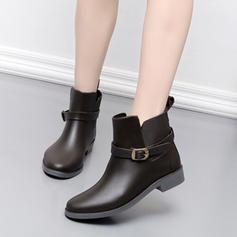 Femmes PVC Talon bas Bottes de pluie chaussures