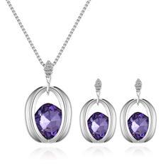 Shining Alloy Rhinestones Glass With Rhinestone Women's Jewelry Sets (Set of 2)