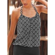 Print Mouwloos Bodycon Boven de knie Zwart jurkje/Casual/Vakantie Jurken