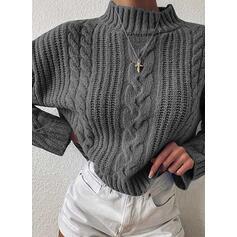 Solido Cavo Knit stand collare Casual Maglioni