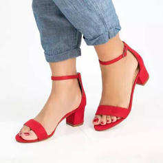 PU Chunky Heel Sandals Pumps Peep Toe Heels With Others shoes