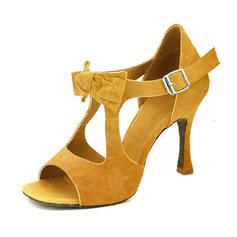 Women's Latin Heels Sandals Pumps Suede Latin