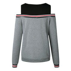 Polyester Couleurs Opposées Striped Sweat-shirts