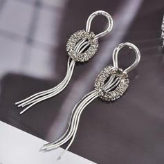 Luminoso Aleación Diamantes de imitación con Rhinestone De mujer Pendientes de la manera (Sold in a single piece)