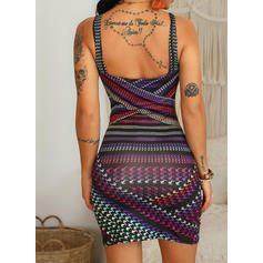 Print Sleeveless Bodycon Above Knee Sexy/Party Dresses