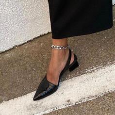 Női PU Chunky sarok Hegyes orr -Val Animal Print cipő