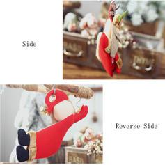Snømann reinsdyr nisse jul hengende Klut Trehengende ornamenter