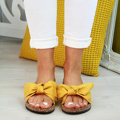 Women's PVC Flat Heel Sandals Flats With Bowknot shoes